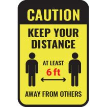 Caution Keep Your Distance Sign