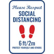Please Respect Social Distancing Sign