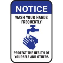 Notice Wash Your Hands Frequently Sign