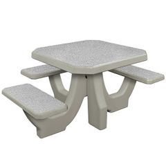 Bayside Concrete Square Wheelchair Accessible Tables