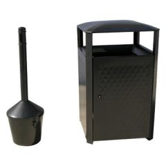 All Steel 38-Gallon Receptacle Combo