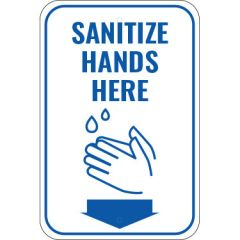Sanitize Hands Here Sign