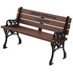 Georgetown Inlay Memorial Benches - Wood Grain Naturals