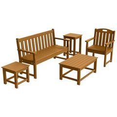 Traditional 5-Piece Full Conversation Patio Set