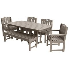 Traditional 6-Piece Large Patio Dining Set