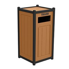 Two-Tone Panel Design Recycling Containers - Single Unit