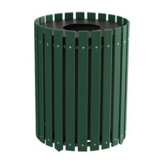 Recycled Plastic Slat Design Round Receptacles